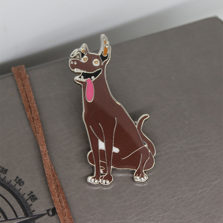 Brown Dog Dante Pendant Badge Keychain Necklace Halloween Cosplay Accessory Kid Birthday Holiday Gift COCO Cosplay Accessories