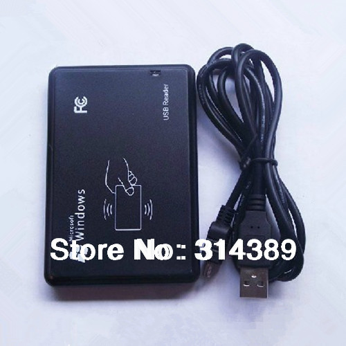 Security Black USB Proximity Sensor Smart RFID ID Card Reader 125Khz EM4100 ...