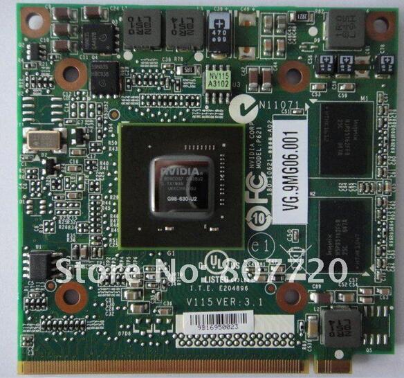 Prix pour 100% marque nouveau et original GeForce 9300 M GS (G98-630-U2) ddr2 256 mb 64bit mxm ii vg.9mg06.001 carte vga pour acer.