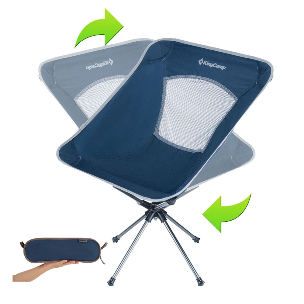 Fabulous Kingcamp Folding Chair 360 Rotating Portable Comfortable Camellatalisay Diy Chair Ideas Camellatalisaycom