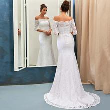 Винтажное свадебное платье Русалка 2021 robe de mariee с коротким