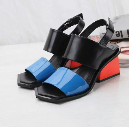 2017 Fashion Women Strange Heel Back Strap Sandals Summer Shoes Woman Colorful High Heel Sandals Women Pumps Sandalias Mujer