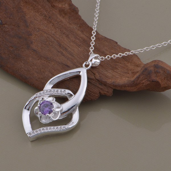 wholesale High quality silver Fashion jewelry chains necklace pendant WN-1357