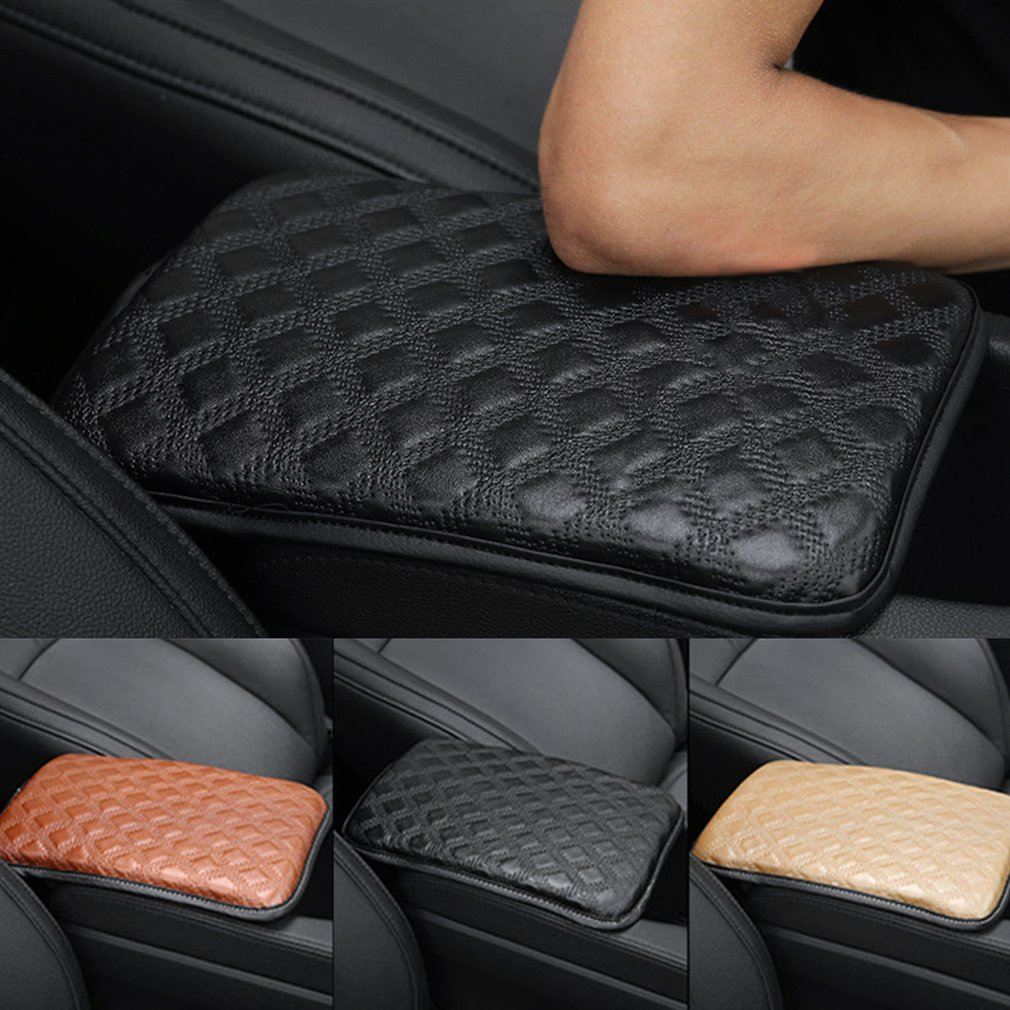 New Car Center Console Seat Armrests Cover Leather Pad Auto Seat Armrests Box Mat Auto Vehicle Protective Soft Mats Car-styling