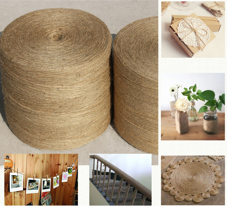 1mm--5mm natural jute rope rope line hand woven tag tied rope