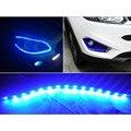 ZYHW Marca 10 pcs DC 12 V 30 cm 15 SMD LED Flexível Impermeável tiras de luz led para carros trunks azul