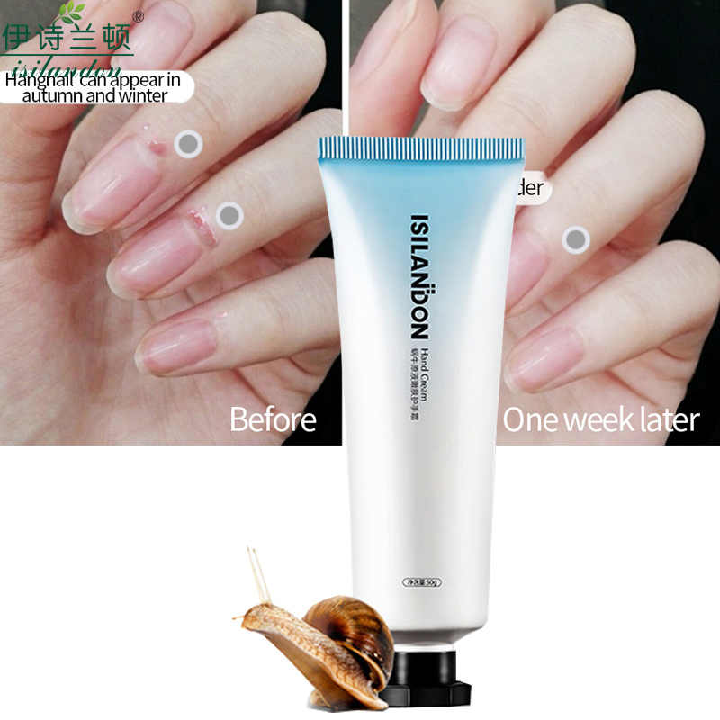 ISILANDON Snail Serum Repair ครีมบำรุงผิว Anti Chapping Anti Aging Whitening Firming Hand Cream Skin Care