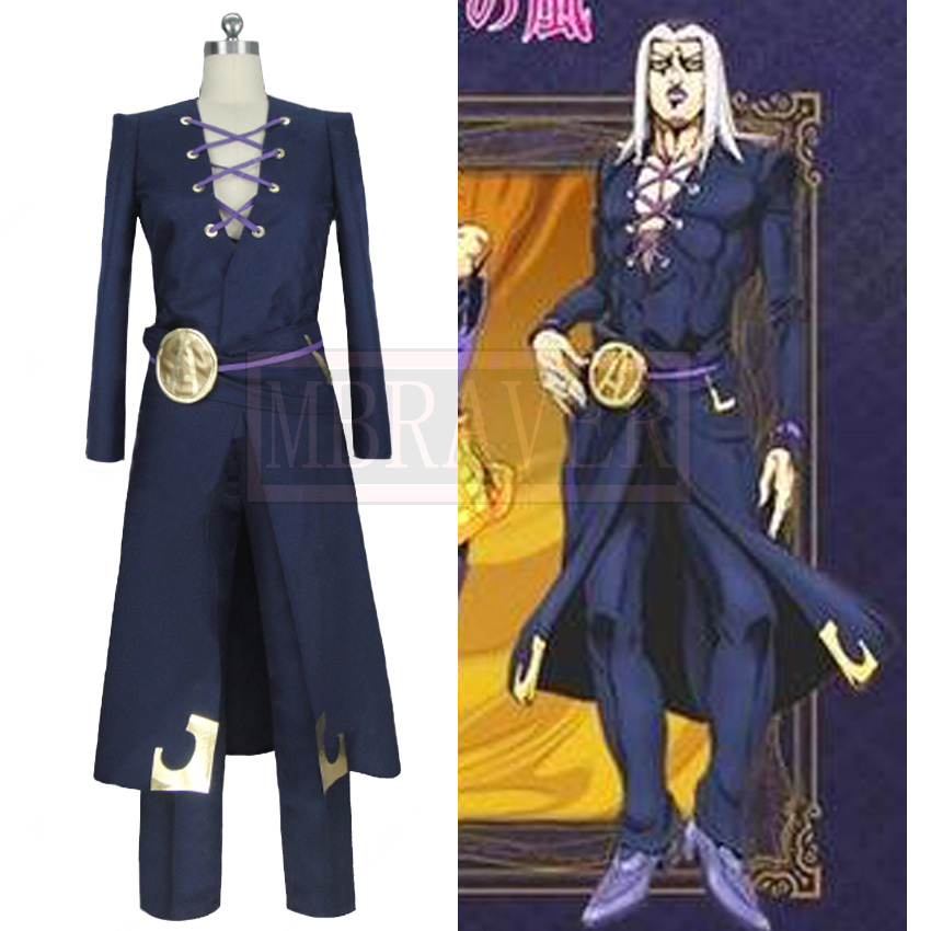 JoJo's Bizzare Adventure Leone Abbacchio Cosplay Costume Halloween Uniform Outfit Custom Made Any Size