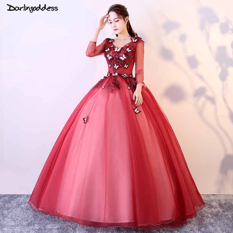 bbcca9d34 Detail Feedback Questions about Cheap Quinceanera Gowns Red Long Sleeve  Quinceanera Dresses 2018 Ball Gown Sweet 16 Dresses Vestidos De 15 Anos  Formal Gowns ...