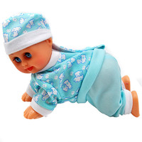 Abbyfrank High Simulation Crawling Doll Toys Electric Educational Interactive Singing Dance Toy Children S Birthday Gifts