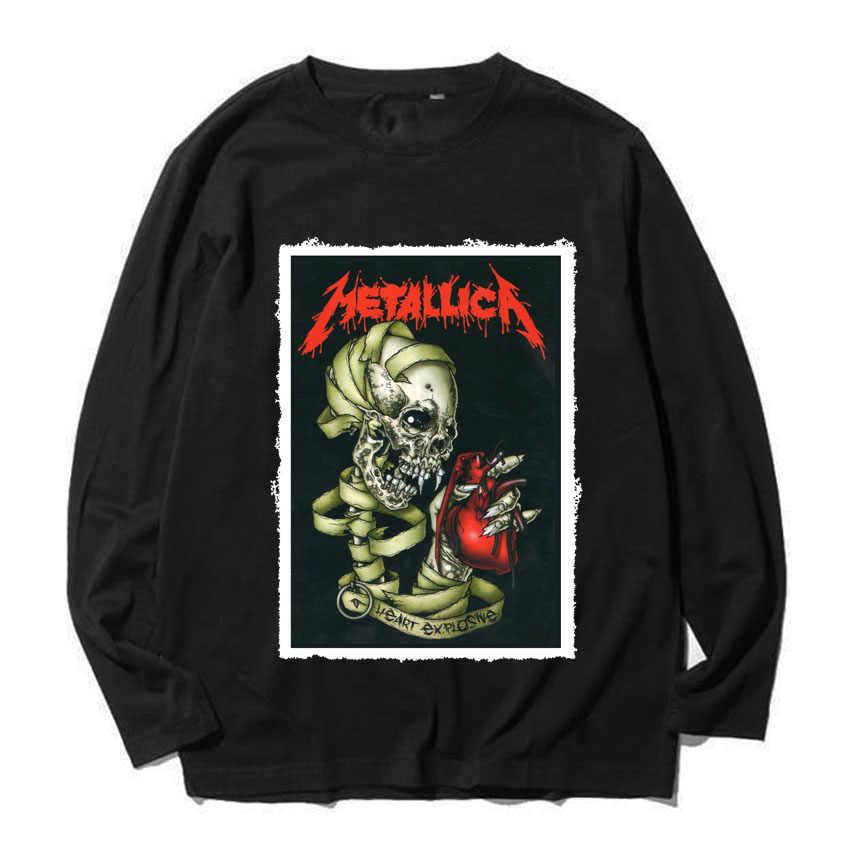 12eb58661 metallica black sabbath ozzy full sleeves rock band tee Heavy combed Long  Sleeves t shirt vintage