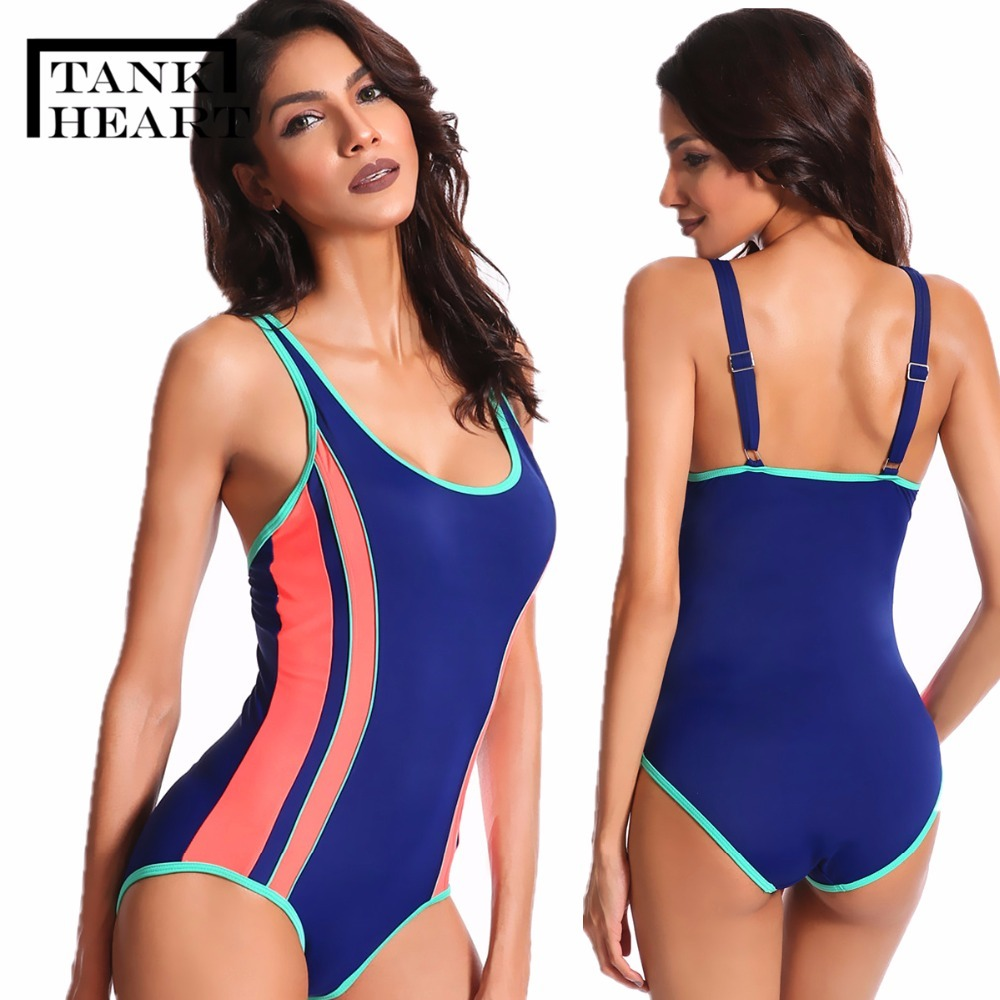 Tank Heart 2018 Plus Size Swimwear Women one piece Swimsuit Sports Bikini Bathing suit Beachwear Bodysuit Monokini Praia Trikini tank heart black sexy bandage bikini plus size swimwear women one piece swimsuit bathing suit beachwear bodysuit monokini praia