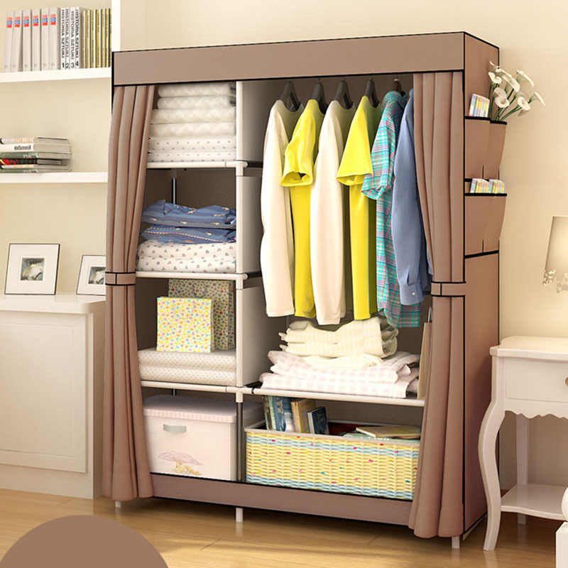 Минималистичный современный усиленный большой шкаф DIY нетканый складной портативный шкаф для хранения одежды пылезащитный Тканевый шкаф