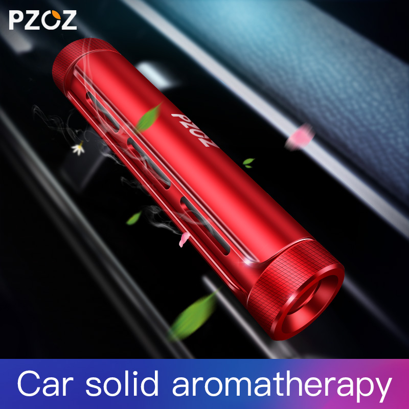 PZOZ Luxury Car Aromatherapy holder car air vent solid fragrance lemon aroma auto holder car Freshener cologne Perfume holder