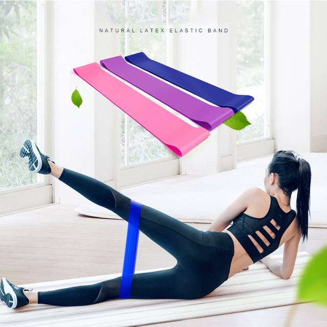US $0 69 30% OFF|Resistance Bands fitness Loop Yoga Pilates Home GYM  Fitness Exercise Workout Training pull up Rubber Bands 2018 Wholesale-in