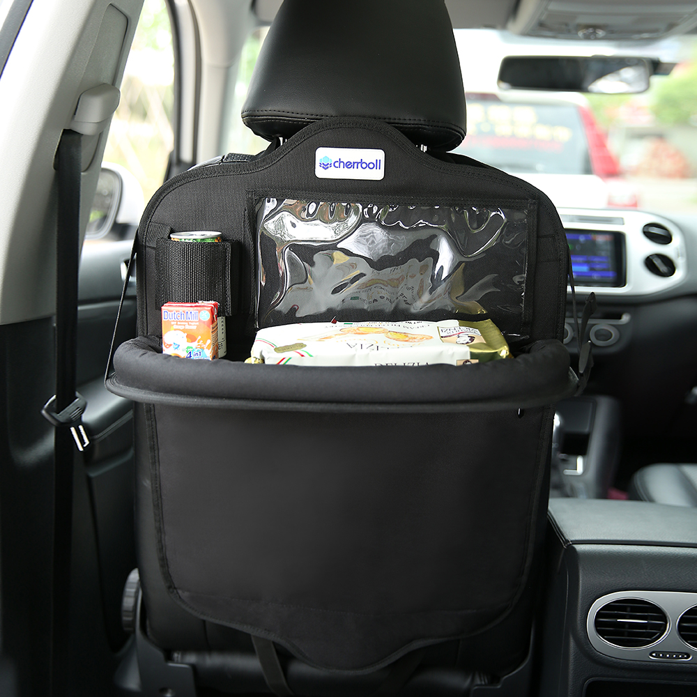 Cherrboll  Auto Car Back Seat Storage Bag Cover Holder Bottle Tissue Magazine Cup Food Phone Backseat Organizer