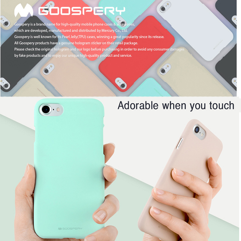 <font><b>Original</b></font> Genuine Official Goospery Ultra-Thin <font><b>Silicone</b></font> Soft Feeling <font><b>Case</b></font> Cover For Apple <font><b>iPhone</b></font> <font><b>iPhone</b></font> <font><b>X</b></font> 4 4S 5 5S SE 6 6S 7 8 image