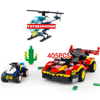 Hot City Super Police Helicopter Racing Wanted Building Block Policeman Figures Sports Cars Cross Country Motorcycle