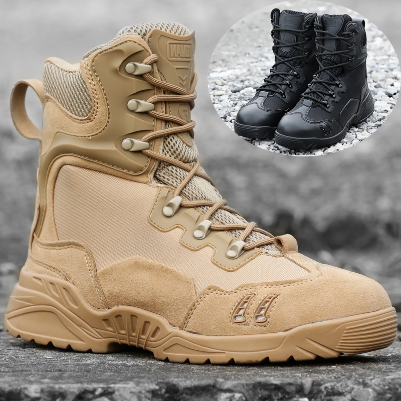 Men Basic Hiking Shoes Tactical Boots Solid Breathable Male Trekking Boots Adult Outdoor Climbing Sneakers Hunting Shoes peak sport speed eagle v men basketball shoes cushion 3 revolve tech sneakers breathable damping wear athletic boots eur 40 50