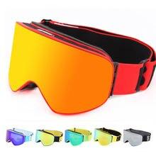 Зимние лыжные очки с двойными линзами спорта сноуборд очки с Анти-туман УФ-защитой для мужчин и женщин на снегоходах катание на лыжах маска на коньках