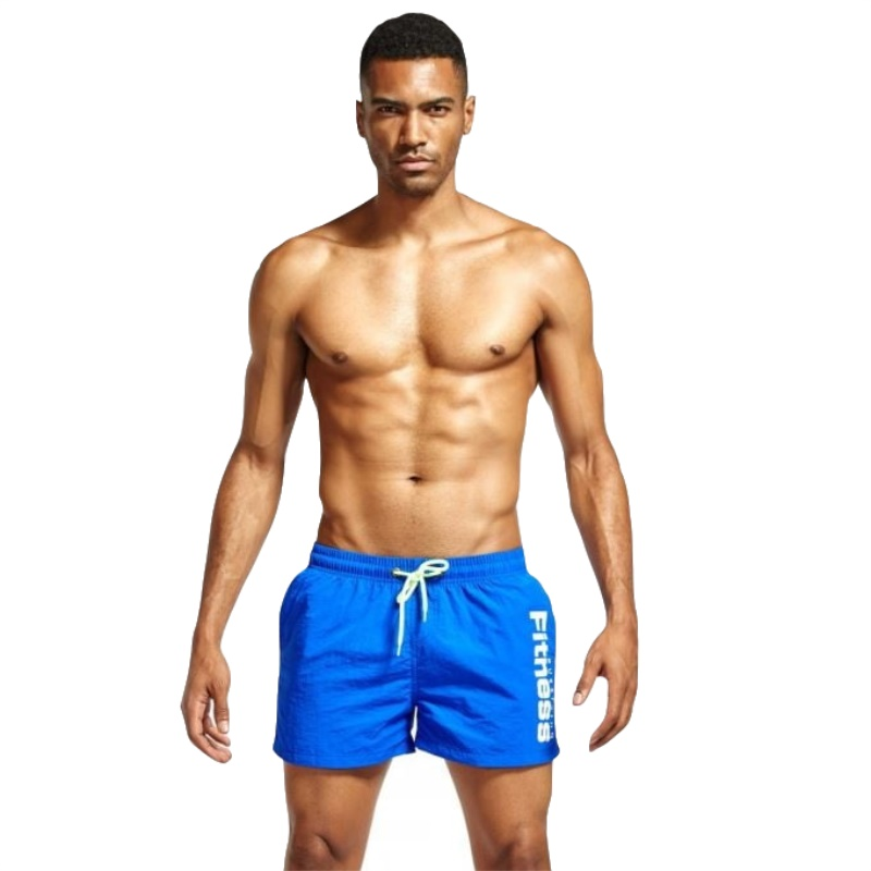 2019 Swimsuit Men Beach   Board   Surf   Shorts   Swimwear Drawstring Swim Bathing Suit Quick Dry Sportswear Sport Pants Wear Trunks