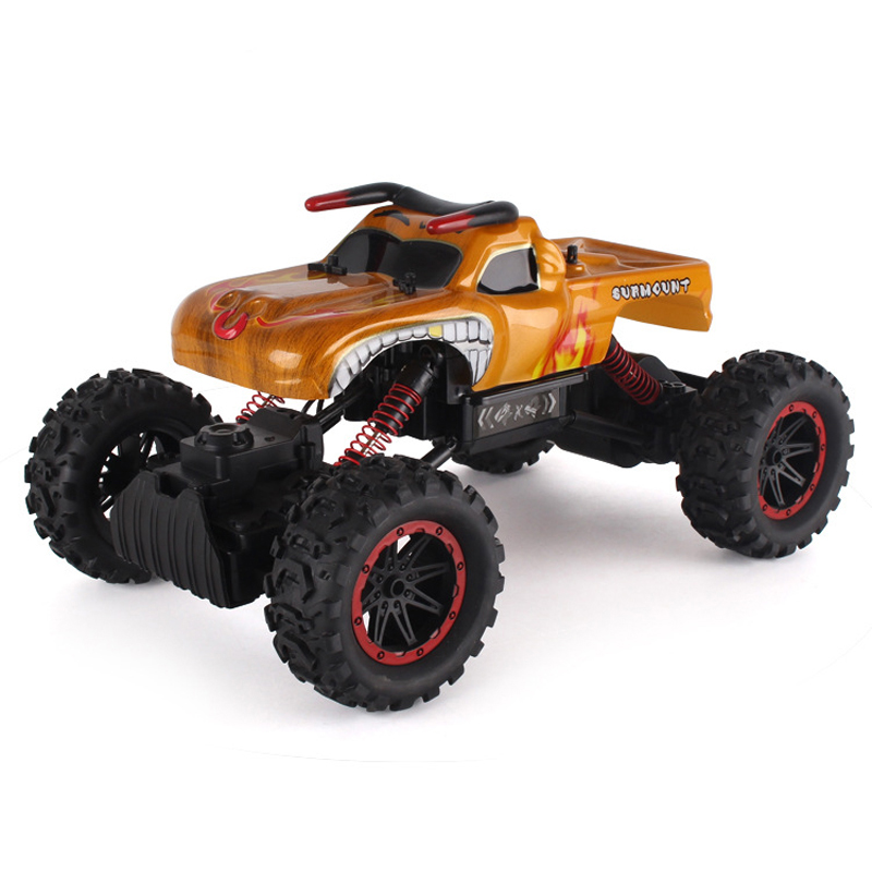 New Alloy Truck Four-Wheel Drive Rc Car Climbing Dirt Bike Buggy Radio Remote Control High Speed Racing Car Model Toys For Kids china remote control dune buggy huanqi rc cars electric car baby amphibious four wheel drive hummers car with brake lights music