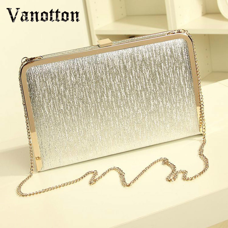 Fashion Women Evening Party Bags Bling Gold Silver Shimmering Large And Small Two Size Day Clutch Dinner Purse Wedding Bride Bag tentop a new style women s peacock evening clutch bags purse print dot clutch handbag black gold silver party dinner purse 1802k