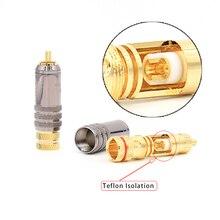 Hifi audio RCA stecker stecker adapter gold überzogen jack für DIY HIFI RCA kabel