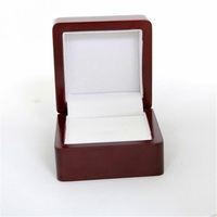 High Quality Wooden Championship Ring Gift Box For Single Ring Jewelry One Position Display Box