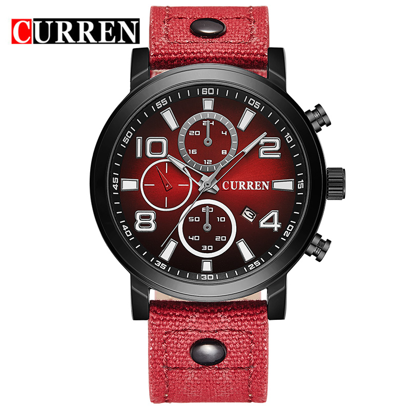 CURREN Luxury Brand Men's Watches Men Sports  Watch Army Military Watches Quartz Hour Date Clock  Relogio Masculino 8199 weide new men quartz casual watch army military sports watch waterproof back light men watches alarm clock multiple time zone