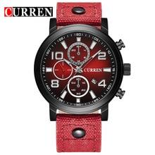 Curren marca de lujo de los hombres relojes de los hombres reloj deportivo militar del ejército relojes de cuarzo fecha hora reloj relogio masculino 8199