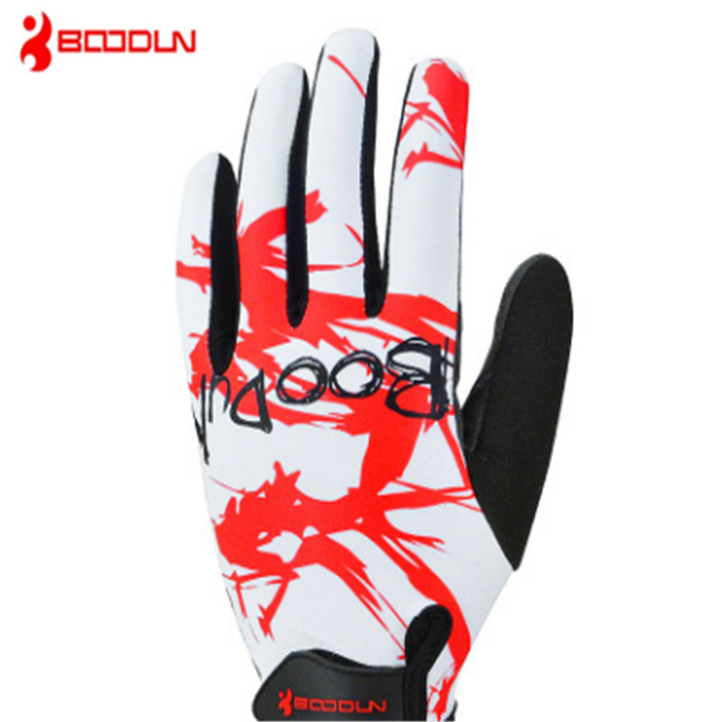 BOODUN Long finger Riding Bicycle gloves Outdoor sport Shock absorption Non-slip Wear-resisting Comfortable