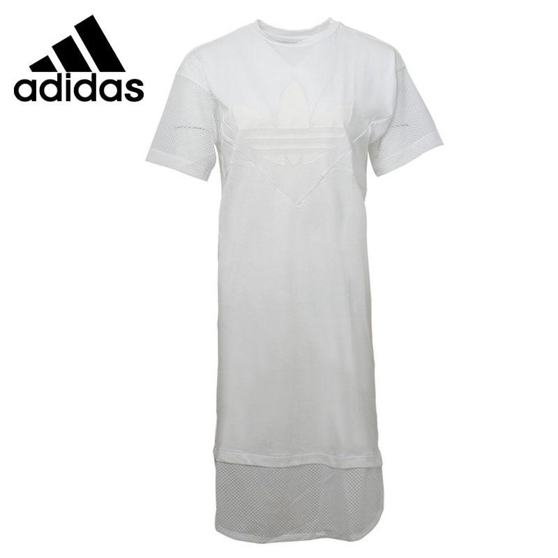 Original New Arrival 2018 Adidas Originals CLRDO TEE DRESS Women's Long T-shirts short sleeve Sportswear sanctuary new tan long sleeve lace inset tee xs $49 dbfl