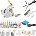 Tattoo Kit Machines 10 Colors Pigment Power Supply Needles Set Beginner Tattoo Equipment