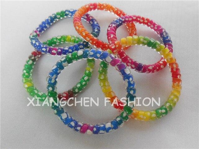 10pcs lot Thin Hair Elastic Hair Scrunchies For Girl Elastic Rubber Band  Headband Ponytail Holder 7e2a333cfbe