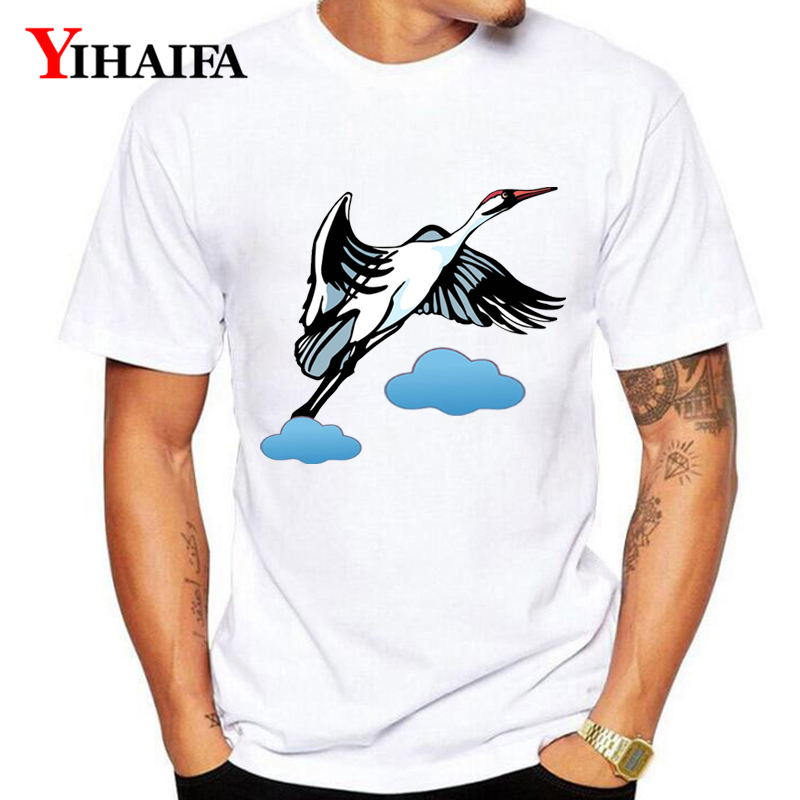T Shirt Men Women Harajuku Bird 3D Print Animal Graphic Tees Unisex Casual White Tee Shirts O Neck Couple Tops in T Shirts from Men 39 s Clothing