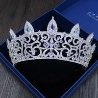 2017 neue Große Braut Hochzeit Crown Silber Überzogene Österreichische Kristall Große Königin Krone Hochzeit Haarschmuck das Beste Geschenk