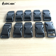EDC TOOLS Contoured Side Release Mini Buckles For Paracord Bracelet/Cat Collars Black 10pcs/pack+free shipping+wholesale