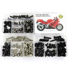 цены For Honda VFR 750 1990-1997 Motorcycle Full Fairing Bolts Kit Steel Complete Bodywork Screws Fairing Clips Nuts OEM Style