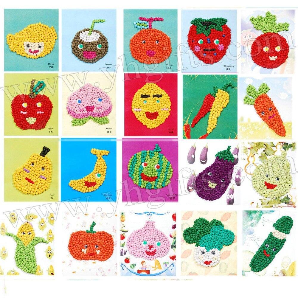 Craft toys for kids - Arts And Crafts Sets For Kids Vegetable Tissue Art Fruit Tissue Crafts Kids Crafts Kindergarten