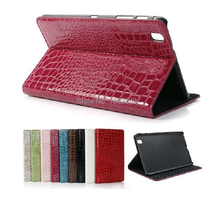 New Luxury Crocodile Pattern Magnetic Stand Leather Skin Shell Cover Case for Samsung Galaxy Tab Pro 8.4 T320 T321 8.4 Tablet luxury flip stand case for samsung galaxy tab 3 10 1 p5200 p5210 p5220 tablet 10 1 inch pu leather protective cover for tab3