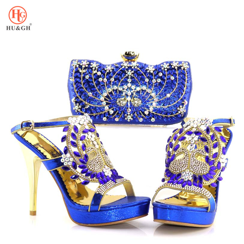 Royal Blue Shoes and Bag Sets for Women Matching Women Shoes and Bag Set Women Shoes and Bag Set In Italy Nigerian Wedding shoes shoes and more сандалии