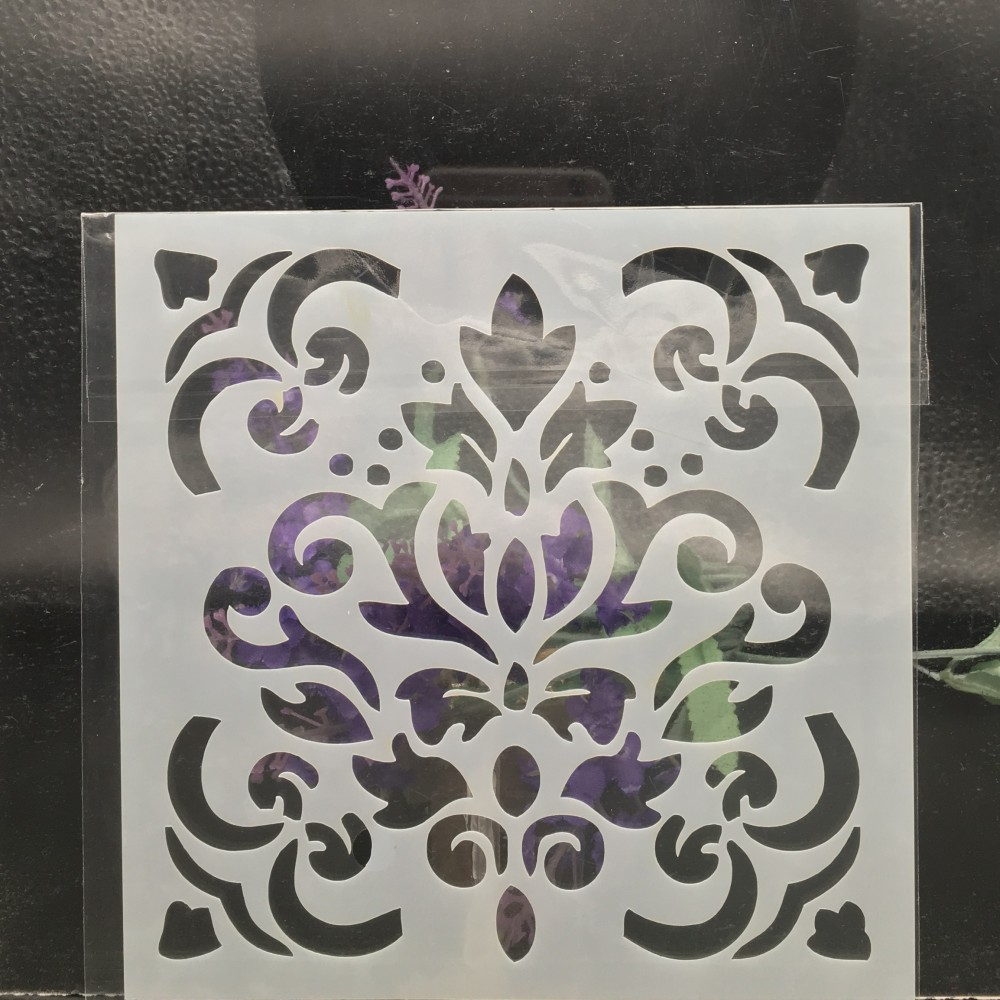 15cm Background Flower DIY Layering Stencils Wall Painting Scrapbook Coloring Embossing Album Decorative Card Template F5301