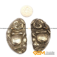 Pyrite Pendant 26x49 Mm Buddha Carved Gray Pyrite Beads Natural Pyrite Stone Beads For Pendant Making