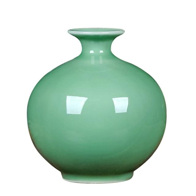 Chinese Vintage Jingdezhen Decorative Fine Porcelain Jade Vases High