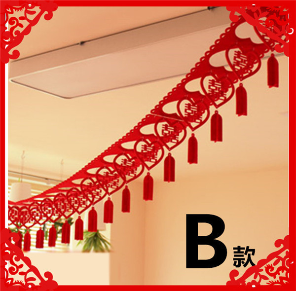 Guaranteed 100 300cm non woven garland wedding decoration guaranteed 100 300cm non woven garland wedding decoration supplies hangings for home traditional chinese junglespirit Gallery