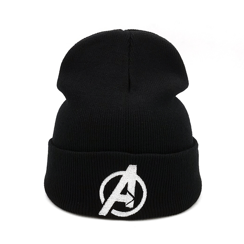 Popular movie Avengers   Beanie   Hat embroidery Casual   Beanies   for Men Women Warm Knitted   Skullies   youth Winter Hat