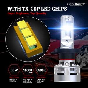 Image 2 - Novsight H7 LED H4 led H11 H8 HB3 9005 HB4 9006 LED Autokoplampen 60W 10000LM Autokoplampen Mistlampen 12V 24V