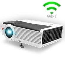 CAIWEI A9 (A) LED Proyector WIFI 5000 Lúmenes 1280*800 sala de cine en Casa Proyector de vídeo de audio portátil Android TV/Bluetooth 4.0