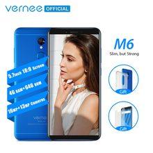 Vernee m6 4gb 64gb smartphone ultra 5.7 polegada celular 4g lte android 7.0 telefone com 13mp câmera selfie 16mp câmeras impressão digital